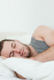 Portrait of a man sleeping Stock Photo