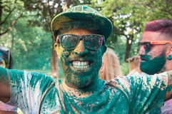Portrait of man with smile at Colore Mulhouse 2017 Royalty Free Stock Image