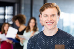 Portrait of man smiling in office Royalty Free Stock Image