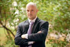 Portrait of a man in  suit Stock Images