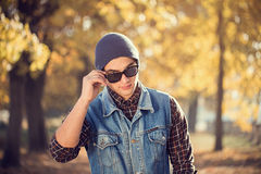 Portrait of a man with sunglasses Royalty Free Stock Photography