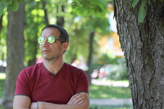 Portrait of a man in sunglasses Stock Photography