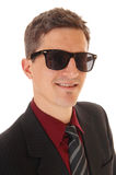 Portrait of man with sunglasses. Royalty Free Stock Photos