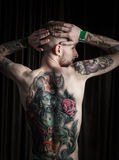 Portrait of man with tattoo Stock Image