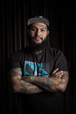 Portrait of man with tattoo Royalty Free Stock Images