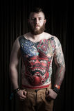 Portrait of man with tattoo Royalty Free Stock Photography