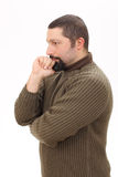 Portrait of man thinking Stock Images
