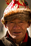 Portrait of a man from Tibet Stock Image
