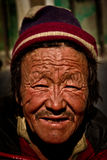 Portrait of a man from Tibet Royalty Free Stock Photography
