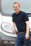 Portrait Of Man With A Van Stock Photos