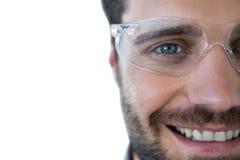 Portrait of man wearing protective eyewear Stock Photos