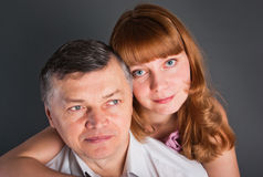Portrait of the man and the woman Royalty Free Stock Photography