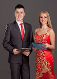 Portrait of man and woman Royalty Free Stock Image