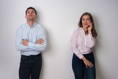 Portrait of man and woman royalty free stock photo