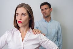 Portrait of man and woman stock image