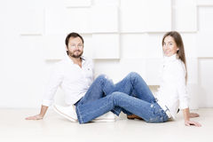 Portrait of a man and woman. Royalty Free Stock Images