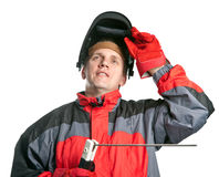 Man in working clothes Stock Photo