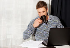 Portrait of man working in home office Stock Photography