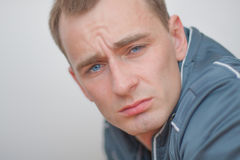 Portrait of a man. Young man looking in the camera Stock Photography