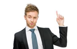 Portrait of manager forefinger gesturing Royalty Free Stock Photography