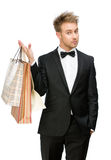 Portrait of manager with paper bags Royalty Free Stock Photography