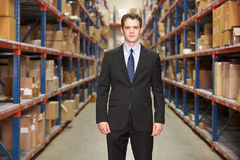 Portrait Of Manager In Warehouse Stock Image