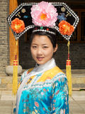 Portrait of manchurian woman Royalty Free Stock Image