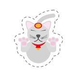 portrait maneki neko - cat japanese Stock Photo