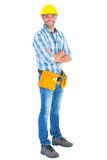 Portrait of manual worker standing arms crossed Royalty Free Stock Photography
