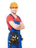 Portrait of manual worker with tools Stock Photos