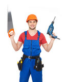 Portrait of manual worker with tools Stock Image