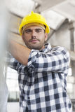 Portrait of manual worker working in industry Royalty Free Stock Photography