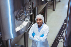 Portrait of manufacturer standing at brewery Royalty Free Stock Photography