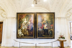 Portrait of Maria Theresia und Franz  I. Stephans Royalty Free Stock Images