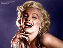 Portrait of Marilyn Monroe Stock Photography