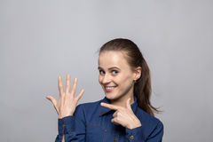 Portrait of married woman Stock Image