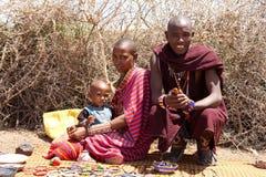 Portrait of masai man Royalty Free Stock Image