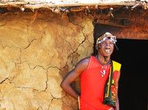 Portrait of Masai Mara warrior Stock Photography