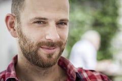 Portrait masculin avec la barbe photo stock