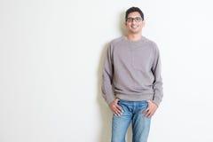 Portrait masculin indien occasionnel images libres de droits