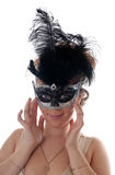 Portrait in a mask Royalty Free Stock Images