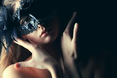 Portrait in mask Royalty Free Stock Photography