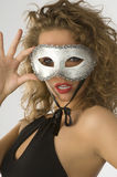 Portrait with mask Stock Photos