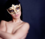 Portrait in mask Royalty Free Stock Images