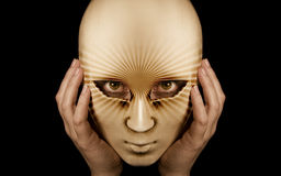 Portrait with mask Royalty Free Stock Photo
