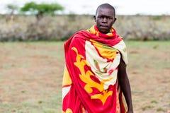Portrait of Massai man Stock Photo