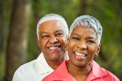 Mature AFrican American Couple. Portrait Of A Mature AFrican American Couple Royalty Free Stock Images