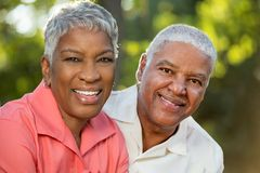 Mature AFrican American Couple. Portrait Of A Mature AFrican American Couple Royalty Free Stock Photography