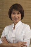Portrait of mature Asian woman Stock Photography
