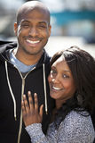 Portrait Of A Mature Black Couple Smiling royalty free stock photography